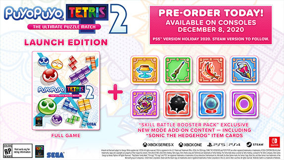 Puyo Puyo Tetris 2 announced for Xbox Series X, PlayStation 5, and current-gen consoles