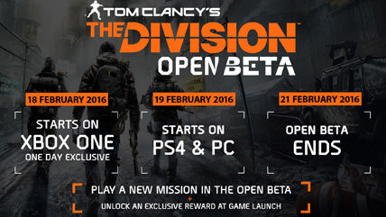 The Division open beta coming next week to PS4, Xbox One, PC
